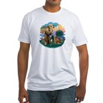 St Francis #2/ Novia Scotia Duck Fitted T-Shirt