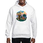 St Francis #2/ Novia Scotia Duck Hooded Sweatshirt