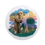 St Francis #2/ Lakeland T Ornament (Round)