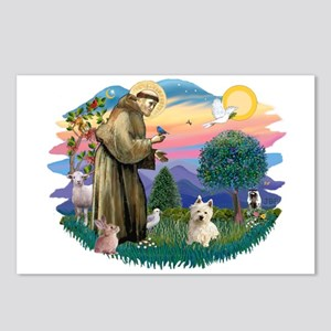 St Francis #2/ Westie #1 Postcards (Package of 8)