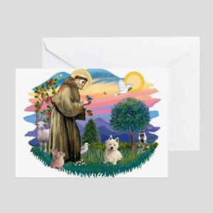 St Francis #2/ Westie #1 Greeting Card