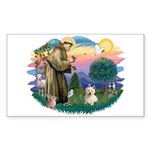St Francis #2/ Westie #1 Sticker (Rectangle 10 pk)