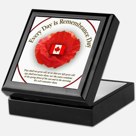 Unique Remembrance day Keepsake Box
