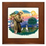 St Francis #2/ Boston T #1 Framed Tile