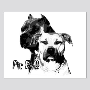 two heads pit bull design Small Poster