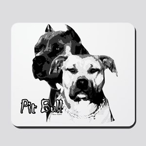 two heads pit bull design Mousepad