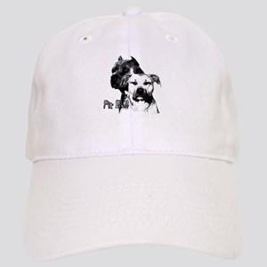 two heads pit bull design Cap