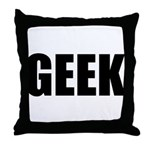 GEEK (Bold) Throw Pillow