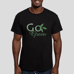 Go Green: Men's Fitted T-Shirt (dark)