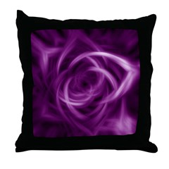 Purple Satin Pretty Pillows Throw Pillow