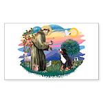 St Francis #2/ BMD Sticker (Rectangle 10 pk)