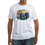 St Francis #2/ BMD Fitted T-Shirt
