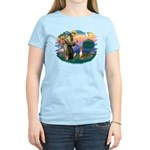 St Francis #2/ Basenji Women's Light T-Shirt