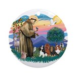 St Francis #2/ Cavaliers Ornament (Round)