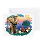 St Francis #2/ Cavaliers Greeting Cards (Pk of 20)
