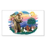 St Francis #2/ Cavaliers Sticker (Rectangle 10 pk)