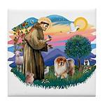 St Francis #2/ Chow (B) Tile Coaster