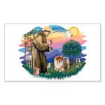 St Francis #2/ Chow (B) Sticker (Rectangle 10 pk)