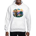 St Francis #2/ Chow (B) Hooded Sweatshirt