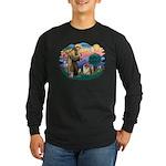 St Francis #2/ Chow (B) Long Sleeve Dark T-Shirt