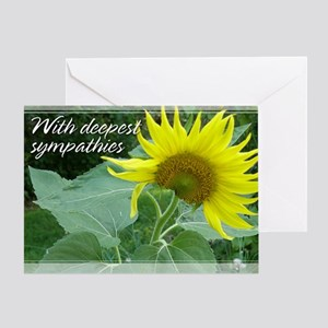 Sunflower Sympathy Card 5x7