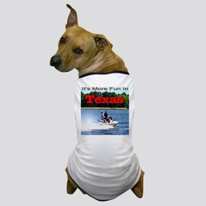Jet Skiing Texas Dog T-Shirt