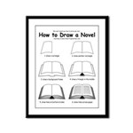 How to Draw a Novel - Framed Panel Print