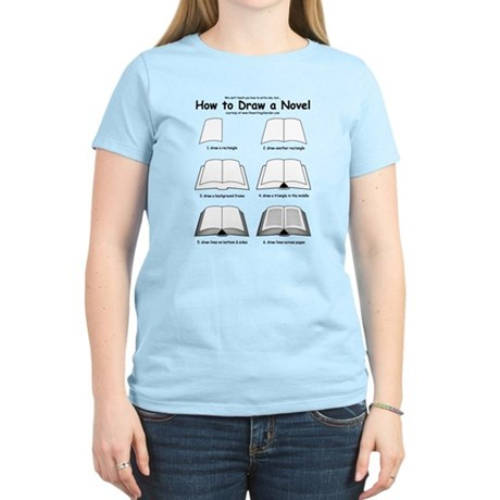 How to Draw a Novel - Women's Light T-Shirt