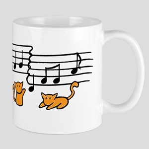 Orange Kitty Notes Mug