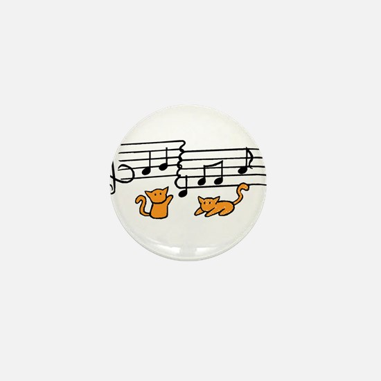 Orange Kitty Notes Mini Button