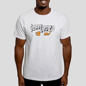 Orange Kitty Notes Light T-Shirt