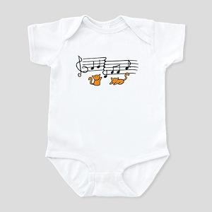 Orange Kitty Notes Infant Bodysuit