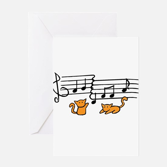 Orange Kitty Notes Greeting Card