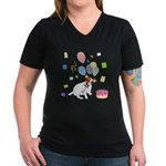 JRT Happy Birthday Gifts Women's V-Neck Dark T-Shi