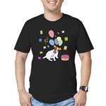 JRT Happy Birthday Gifts Men's Fitted T-Shirt (dar