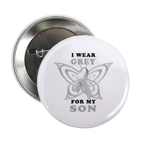 "I Wear Grey for my Son 2.25"" Button (10 pack)"