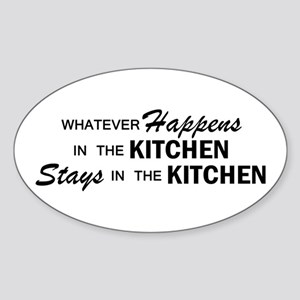 Whatever Happens - Kitchen Sticker (Oval)