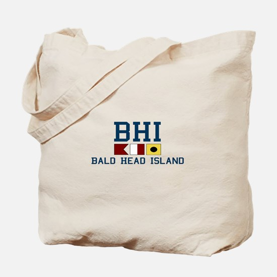 Bald Head Island NC - Nautical Design Tote Bag