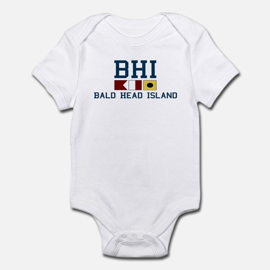 Bald Head Island NC - Nautical Design Infant Bodys