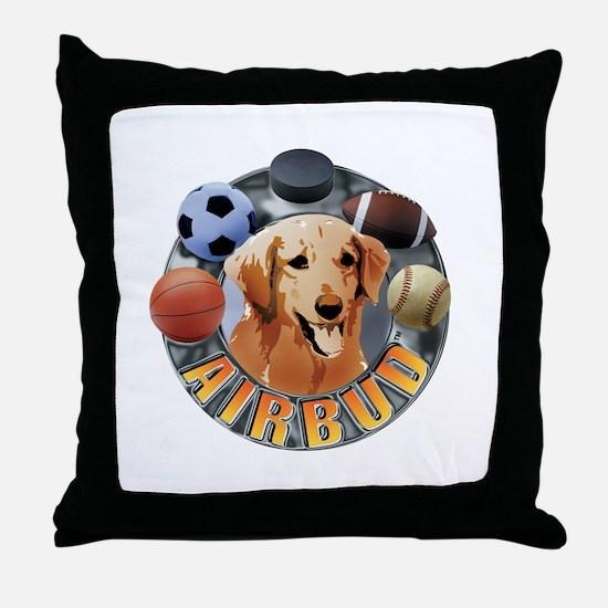 Air Bud Football Throw Pillow