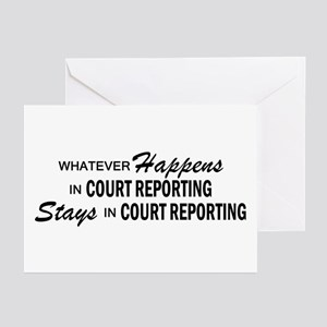 Whatever Happens - Court Reporting Greeting Cards