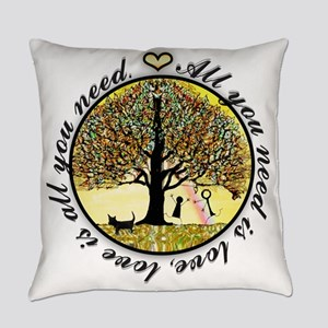 Tree of Life All You Need is Love Everyday Pillow