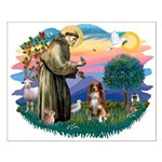 St Francis #2/ Aus Shep (red) Small Poster