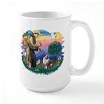 St Francis #2/ Aus Shep (merle) Large Mug