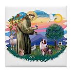 St Francis #2/ Aus Shep (merle) Tile Coaster