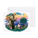 St Francis #2/ Aus Shep (merle) Greeting Cards (Pk