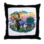 St Francis #2/ Aus Shep (merle) Throw Pillow