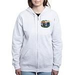St Francis #2/ Aus Shep (merle) Women's Zip Hoodie