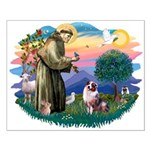 St Francis #2/ Aus Shep (merle) Small Poster