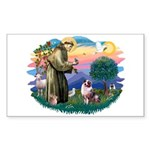 St Francis #2/ Aus Shep (merle) Sticker (Rectangle